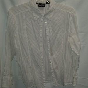 White Harley Davidson Dress Shirt, 1W